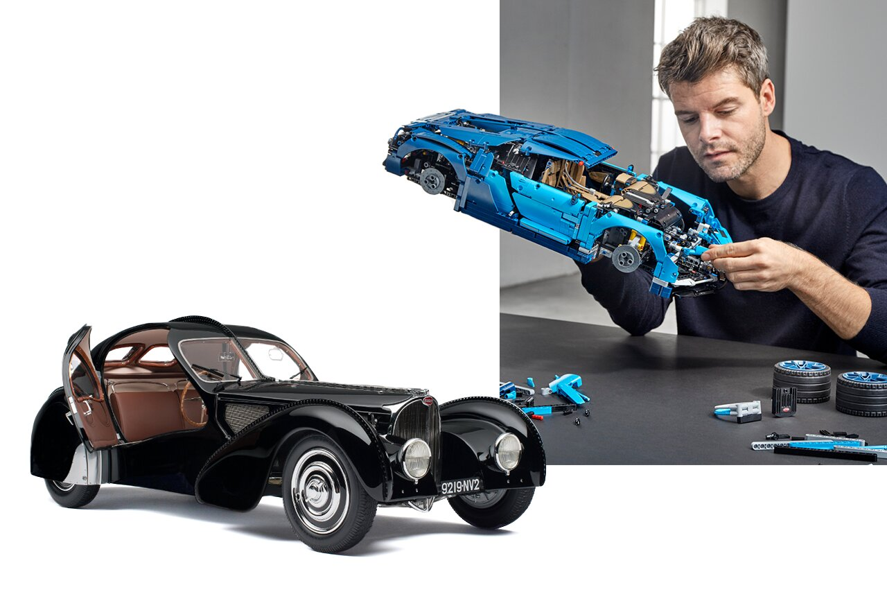 Bugatti, Guy with Car Model