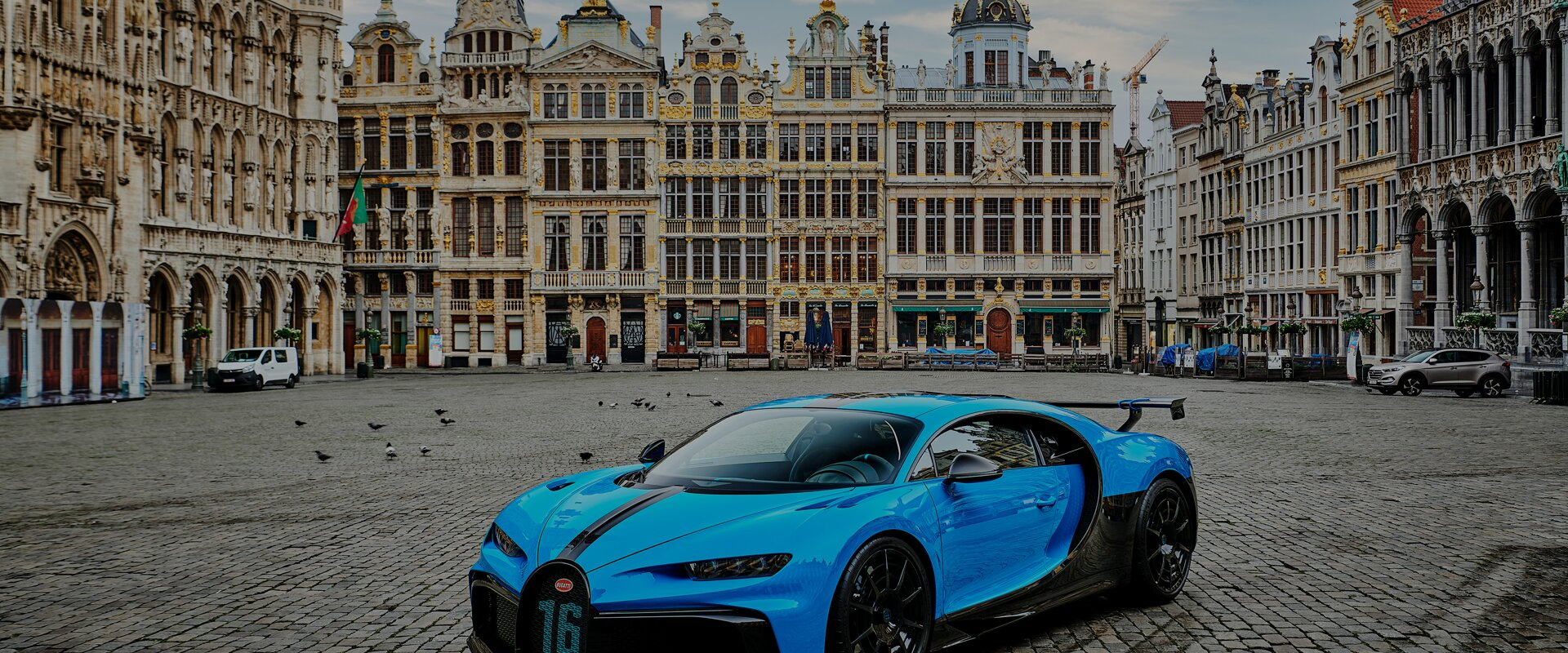 The Chiron Pur Sport in the european capital